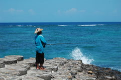 Local fisherman in Lombok Royalty Free Stock Image