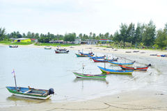 Local fisherman`s boats at the beach 2 stock photography