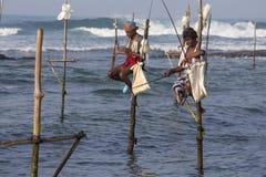 Local fishermen are fishing in sea water. Sri Lanka Stock Photo