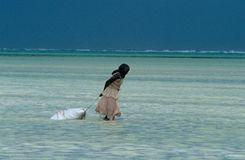 A local fisherwomen at work, Zanzibar Stock Image