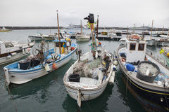 Local fishery boat of capri island mediterranean sea south italy Royalty Free Stock Photo