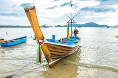 Local fishing boat. Local fishing boat on the beach Stock Photo