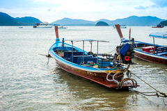 Local fishing boat on the beach. Local fishing boat on the beach,phuket,thailand Royalty Free Stock Photography