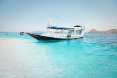 Local fishing boat in the ocean Stock Images