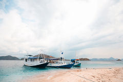Local fishing boat in the ocean. Local fishing boat. Bali, Indonesia Stock Photography