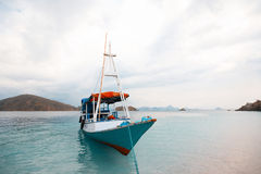Local fishing boat in the ocean Royalty Free Stock Photography