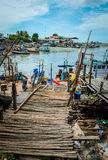 Local Fishing Boat. Thai fishing boats on the beach Royalty Free Stock Image