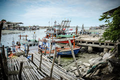Local Fishing Boat. Thai fishing boats on the beach Royalty Free Stock Photography