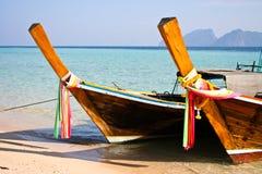 Local fishing boats in a beautiful day. Koh kradan island Trang Thailand Royalty Free Stock Image