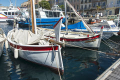 Local fishing boats La Ciotat harbour Stock Image
