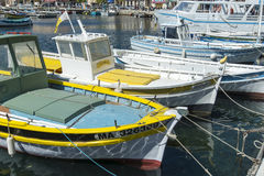 Local fishing boats La Ciotat harbour Royalty Free Stock Images
