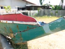 Local fishing boats. Old repair royalty free stock photography