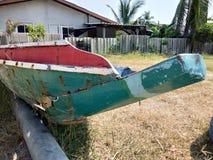 Local fishing boats. Old repair royalty free stock photos