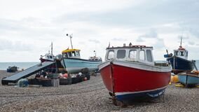 Free Local Fishing Fleet In Devon UK Stock Images - 176565264