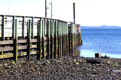 Local Fishing Pier at Low Tide Royalty Free Stock Photo