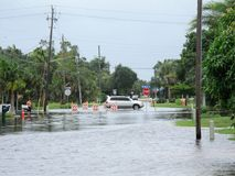 Local flooding hurricane debby. Hurricane Debby is a rainmaker for most of Florida causing local flooding.  These scenes were taken in Punta Gorda Florida on the Stock Photography