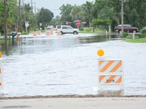 Local flooding hurricane debby Royalty Free Stock Images
