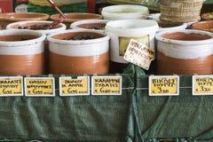 Local food in Chania, Crete, Greece Stock Image