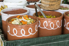 Local food in Chania, Crete, Greece Royalty Free Stock Photo