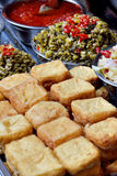 Local food in Chinese traditional. Chinese traditional food, make by toufu and seasoning, shown as local or national food and various food in tourism Stock Photography