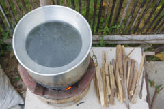 Local food kitchen stove. Stock Image