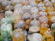 Local food in plastic bag, Thailand. Stock Photography
