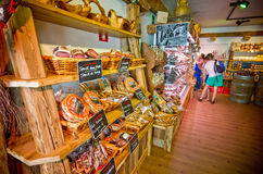 Local foods shop in Castelrotto Stock Photography