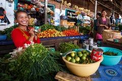 Local fresh market in Falam, Myanmar (Burma) Stock Images