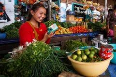Local fresh market in Falam, Myanmar (Burma) Stock Photos