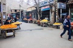 Local fruit market in Khorramabad Stock Image