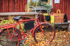 Local Fruit and vegetable market with old bike old school details Stock Photography
