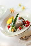 Local fruity sago dessert Royalty Free Stock Images
