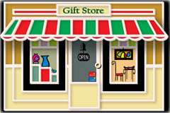 Local Gift Store Illustration Stock Image