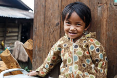 Local Girl in Chin State, Myanmar Royalty Free Stock Images