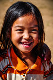 Local girl in a small community near Muang Sing, Laos. Local girl in a small ethnic community near the village of Muang Sing in Laos Royalty Free Stock Image