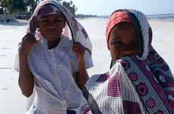 Local girls, Zanzibar Royalty Free Stock Images