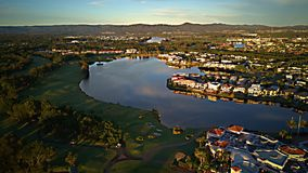 Golf course and Marina Hope Island gold coast and shopping center Very popular Royalty Free Stock Photography