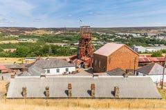 Local grande de Pit Industrial em Gales, Reino Unido fotografia de stock