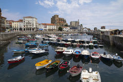Local harbor of Castro Urdiales, Spain Stock Photos