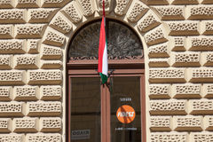 Local headquarters of Fidesz political party in Szeged, southern Hungary. SZEGED, HUNGARY - JULY 22, 2017: Local headquarters of Fidesz political party in royalty free stock image