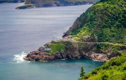 Local histórico, forte Amherst em St John & x27 nacionais canadenses; s Terra Nova, Canadá Fotografia de Stock Royalty Free