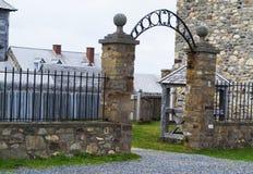 Local histórico nacional canadense de Louisbourg Imagens de Stock