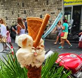Local homemade ice cream gelato in Taormina Royalty Free Stock Photo