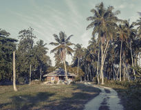 Local house on the island of La Digue Stock Photos