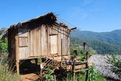 A local house on the mountain of Thailand and south east Asia in normal view better for tourist and traveling Stock Photography
