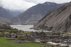 Local houses at Kagbeni in lower Mustang district, Nepal Stock Photo