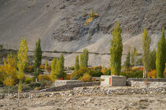 Local houses near Pasu Glacier , Northern Pakistan Stock Images