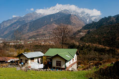 Local houses in Yumthang valley Royalty Free Stock Photos