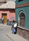 Local inhabitants on the city streets Stock Photos