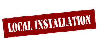 Local installation Royalty Free Stock Images